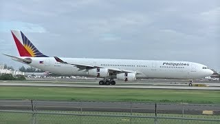 Philippine Airlines A340-300 in San Juan, Puerto Rico!! (SJU)