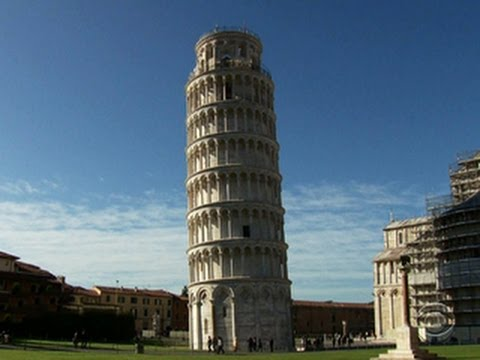 Leaning Tower of Pisa one inch straighter