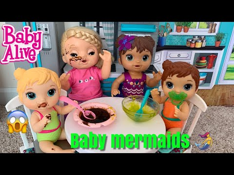Baby Alive Babysits New Baby Mermaids 🧜‍♀️ Riley has magical powers