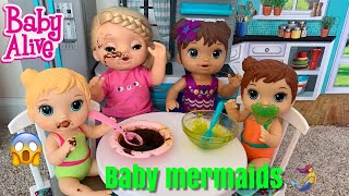 Baby Alive Babysits New Baby Mermaids 🧜♀️ Riley has magical powers