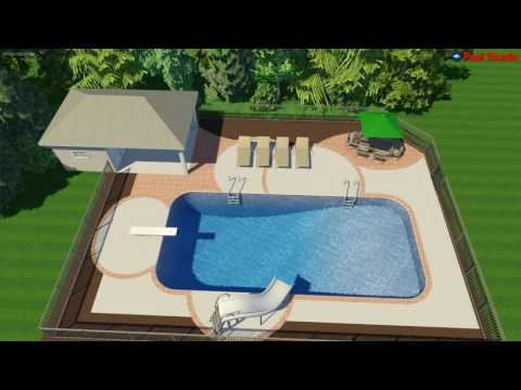 Colgate, WI Pool House Renovation Concept Video