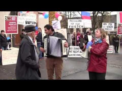 15 11 2014 г Швейцария, Базель Демонстрация в поддержку России и Новороссии