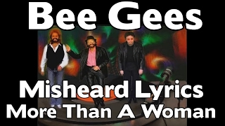 NEW - The Bee Gees - Misheard Lyrics - More Than A Woman