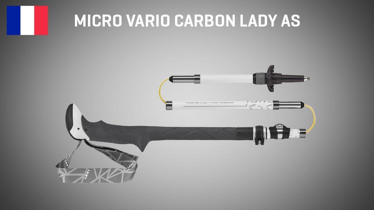 faltstöcke-Batons de Randonnée Leki Micro Vario Carbon Lady Antishock 6492059