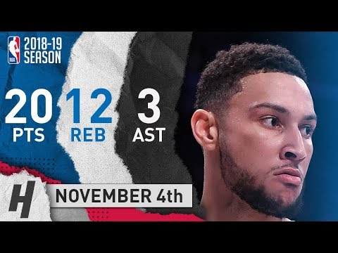 Ben Simmons Full Highlights Sixers vs Nets 2018.11.04 - 20 Pts, 3 Ast, 12 Rebounds!
