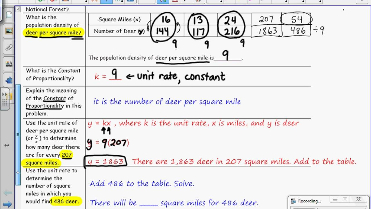Grade 7 Module 1 Lesson 7 on Unit Rate as the Constant of Proportionality -  YouTube [ 720 x 1280 Pixel ]
