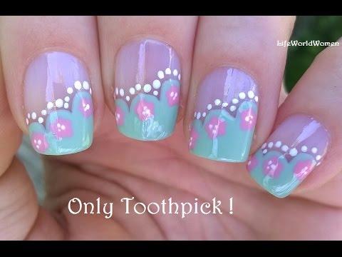 toothpick nail art #10 - wavy side