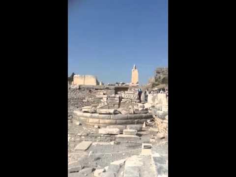Celsus Library ruins in Ephesus, Turkey