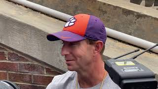 Dabo Swinney after first Spring Scrimmage Part 1