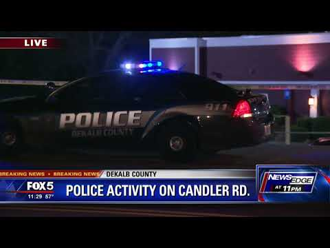 Police activity on Candler Road