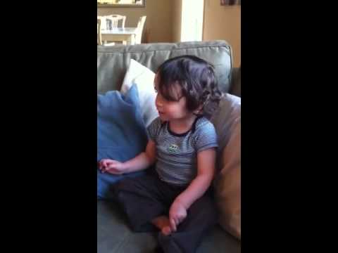 Persian  Alphabet Song by 2 year old Padraig