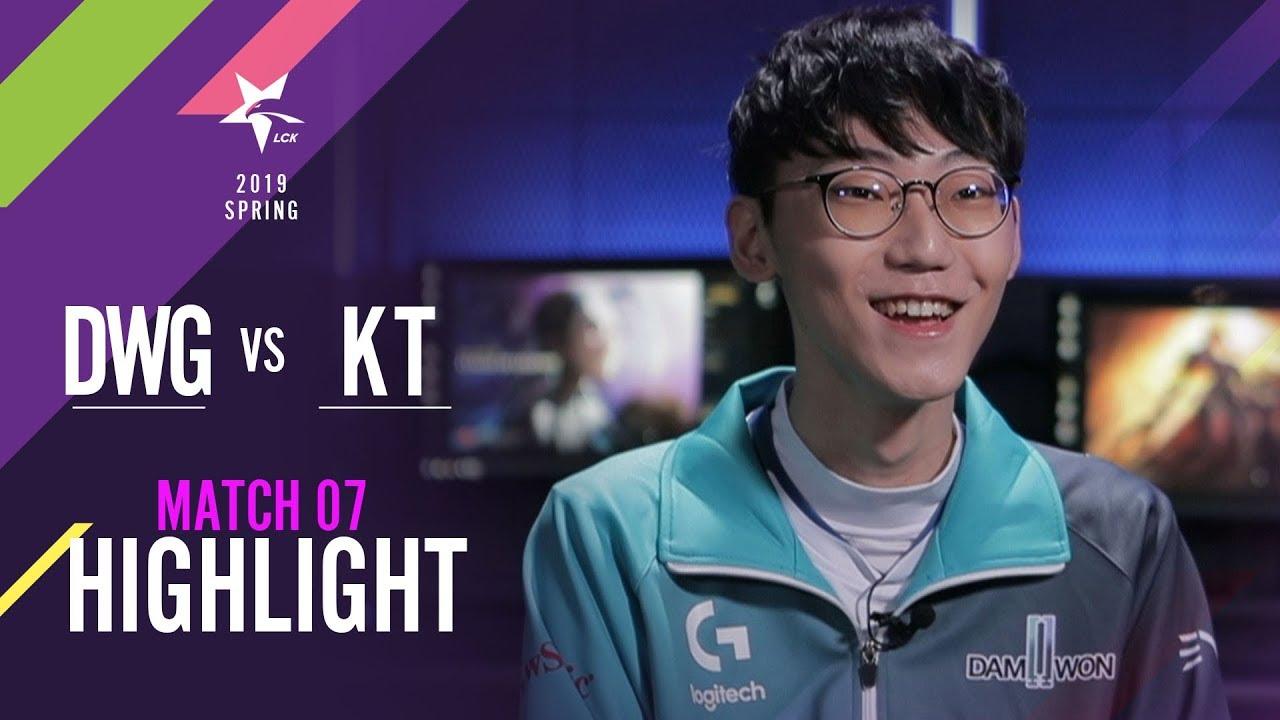[2019 LCK SPRING] 0119 Match7 DWG vs KT : Highlight