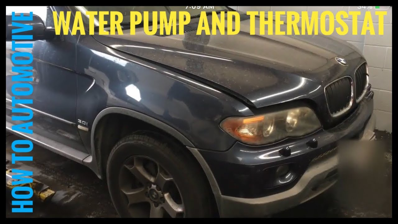 How to Replace the Water Pump and Thermostat on a BMW X5 with 3.0 L  Bmw X Vacuum Diagram Wiring Schematic on bmw m6 wiring diagram, bmw x5 alternator diagram, bmw x5 cooling, bmw x5 oil cooler, bmw x5 belt routing, bmw x5 assembly, bmw e90 wiring diagram, bmw 545i wiring diagram, bmw x5 lighting, bmw x3 wiring diagram, bmw e21 wiring diagram, bmw radio wiring diagram, bmw x5 o2 sensor diagram, bmw 335i wiring diagram, bmw x5 maintenance, bmw m5 wiring diagram, bmw 128i wiring diagram, bmw x5 lighter fuse, bmw x5 hose, bmw x5 chassis,