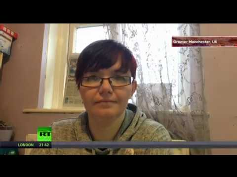 Ashton-under-Lyne jobcentre activist Charlotte Hughes benefit sanctions interview