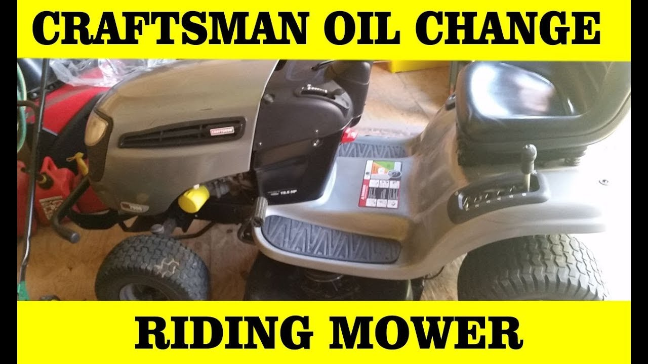 How To Change Craftsman Lawn Mower Oil And Filter Lts 2000