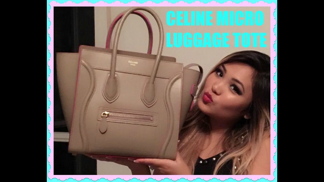 buy original celine bags online - C��line Micro Luggage Tote - Unboxing / Review / Rant !!! - YouTube