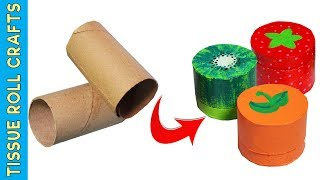 3 Minute Crafts / DIY Miniature Fruit Boxes out of toilet paper roll crafts / Best out of waste