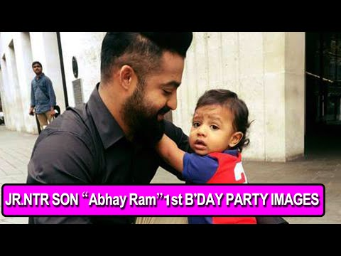 Jr.Ntr Son Abhay Ram 1st B'Day Party...