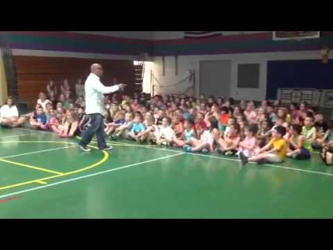 Author Ty Allan Jackson visits Craneville Elementary School