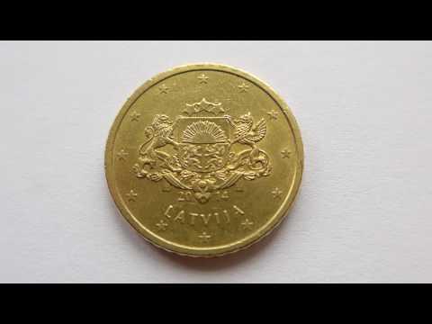 50 Euro Cent Coin :: Latvia 2014