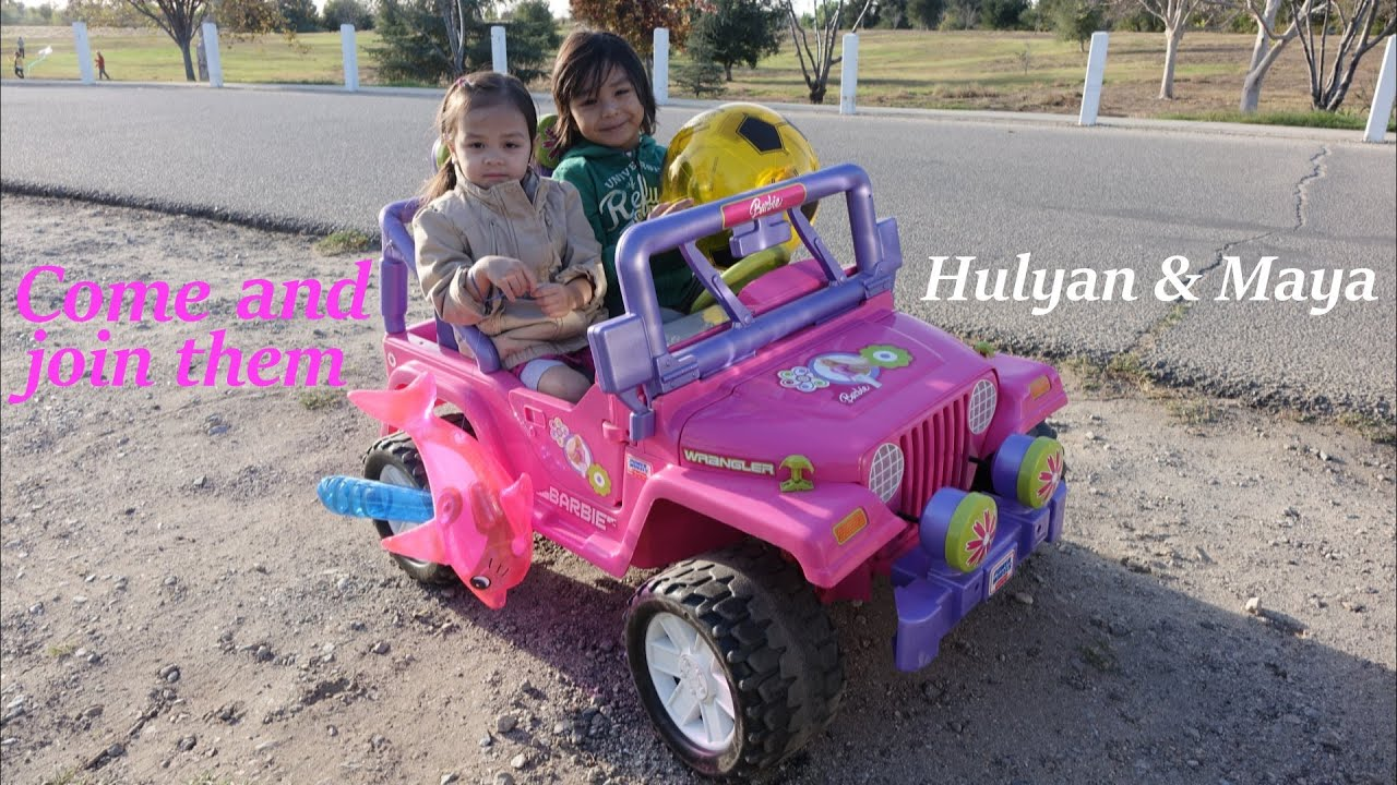 Fisher Price S Ride On Power Wheels A Pink Jeep Wrangler Barbie