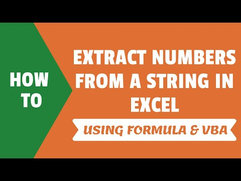 Extract Numbers from a String in Excel (Using Formulas or VBA)