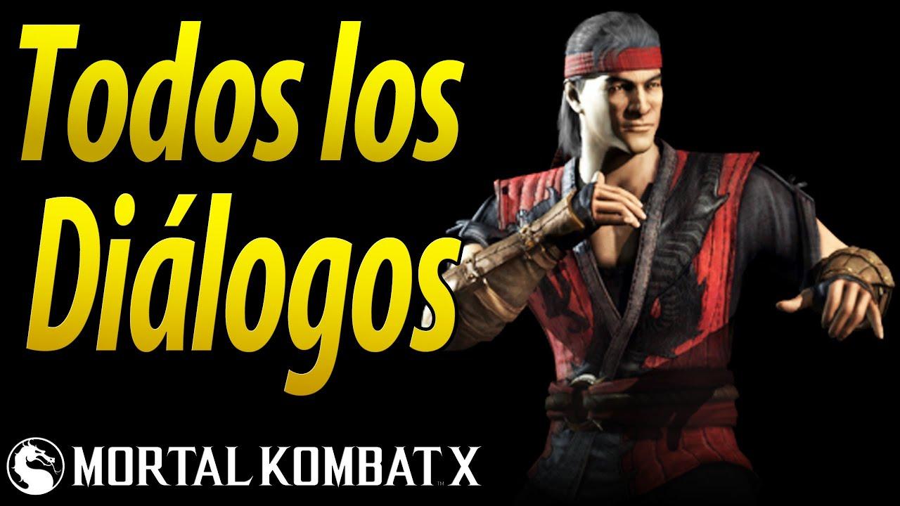 Mortal Kombat X | Español Latino | Todos los Diálogos | Liu Kang | Xbox One |