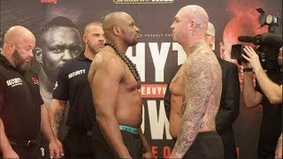 SLIGHTLY INTENSE! - DILLIAN WHYTE v LUCAS BROWNE - OFFICIAL WEIGH IN & HEAD TO HEAD / WHYTE v BROWNE