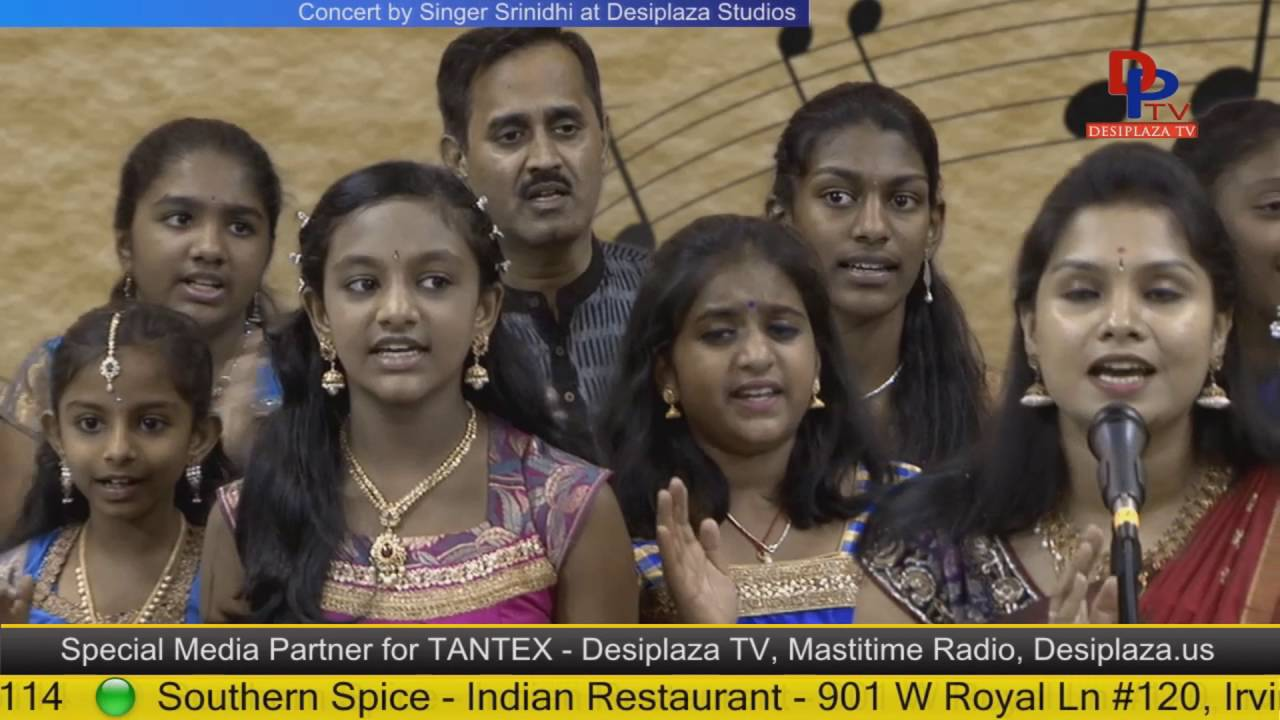 Part.11 Srinidhi & her students giving Carniatic music concert at Desiplaza studio,Irving,Texas