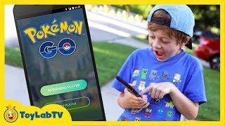 Pokemon Go Family Fun Adventure Game! Finding Pokemon and Searching for Pokestop Kids Video
