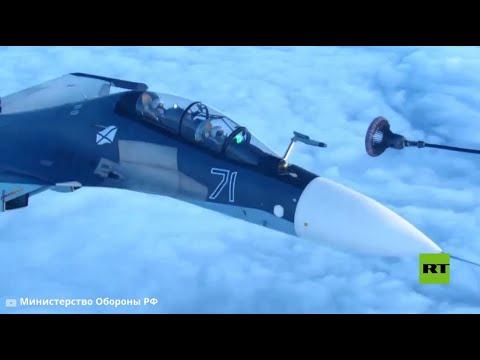 طيارون روس يتدربون على تزويد مقاتلاتهم بالوقود جوا  - نشر قبل 10 ساعة