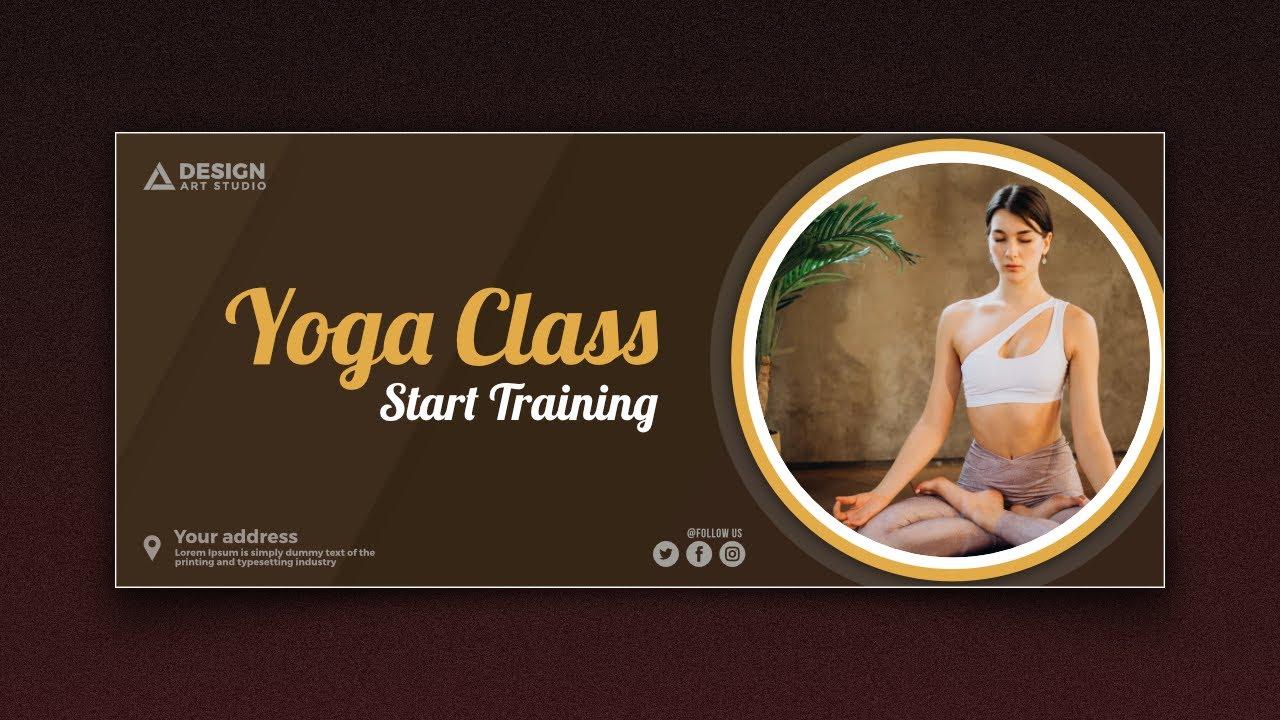 Yoga Banner Design In Affinity Designer Youtube