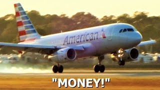 Video Smoothest Landing? American Airlines Airbus A319 (Funny Reaction) download MP3, 3GP, MP4, WEBM, AVI, FLV Januari 2018