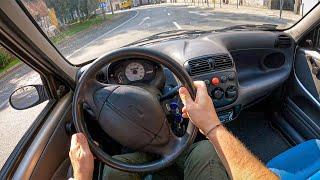 2002 Fiat Seicento 0-100, Top Speed   POV Test Drive #895 Joe Black