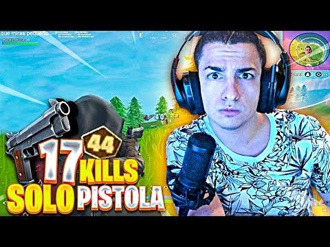 17 KILLS SOLO A PISTOLA GRIS EN UN TORNEO EN FORTNITE