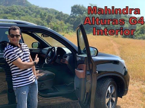 2018 Mahindra Alturas G4 - Interior Design Review (Hindi + English)