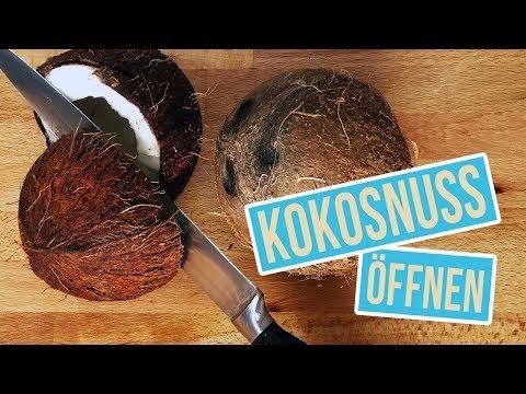 öffnen einer kokosnuss ohne hammer