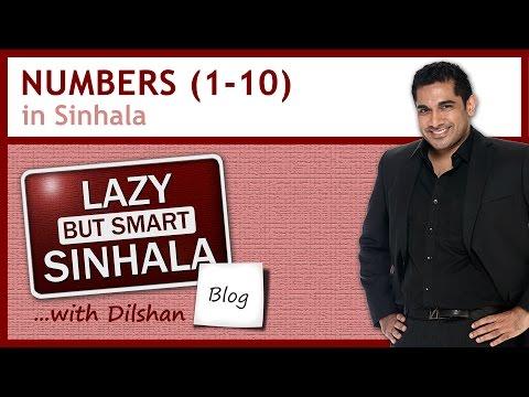 Learn Sinhala Language:  Numbers in Sinhala 1-10 (+ free Sinhala phrasebook)