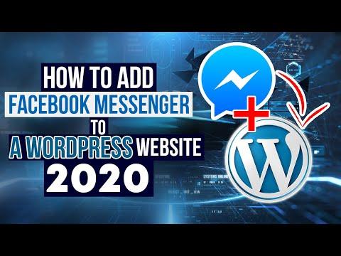 How To Add Facebook Messenger To A WordPress Website 2020