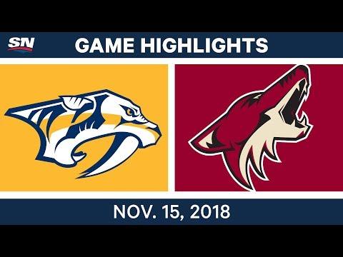 NHL Highlights   Predators vs. Coyotes – Nov. 15, 2018