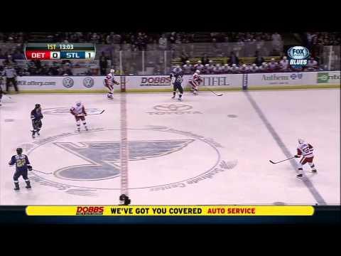 Vladimir Tarasenko 1st NHL goal 19 Jan 2013 St. Louis Blues vs Detroit Redwings, Hockey
