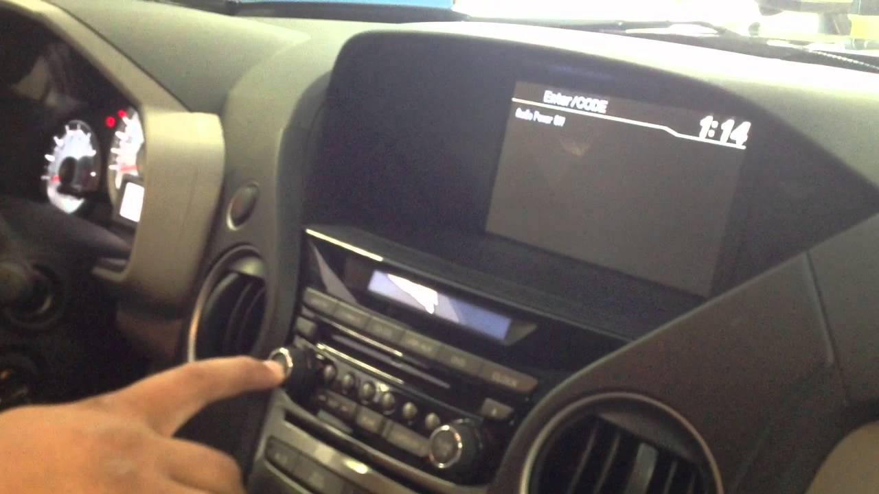 Radio Code For 2015 Honda Pilot Crv Accord Civic Fit Odyssey Youtube