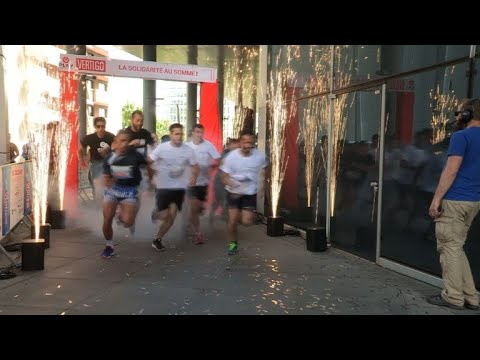 Runners brave 954 stairs for Paris's Vertigo run for charity