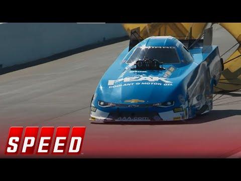 John Force Vs. Jonnie Lindberg - Gainesville Funny Car Final   2017 NHRA DRAG RACING