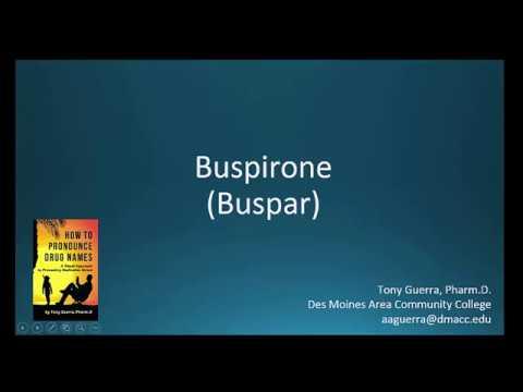 (CC) How to Pronounce buspirone (Buspar) Backbuilding Pharmacology