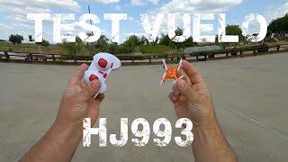 HJ993 Test vuelo mini drone Xiaomi Yi