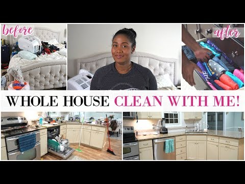 Ultimate Clean With Me - Whole House All Day Cleaning Routine Fall 2018