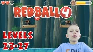 Ronald plays Redball 4, levels 23-27 | KID GAMING (Android)