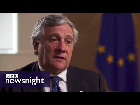 European Parliament President Antonio Tajani: