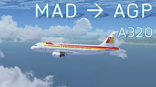 FSX Madrid to Malaga | Airbus A320 | Full Flight